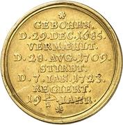 2 Ducat - Wilhelm Friedrich (Death) – reverse
