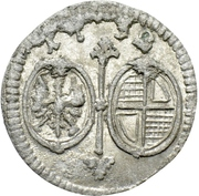 1 Pfennig - Karl Wilhelm Friedrich – obverse