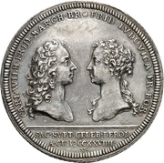 1 Thaler - Karl Wilhelm Friedrich (Marriage) – obverse