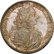½ Thaler - Karl Wilhelm Friedrich (Ansbach Justice Board) – obverse