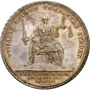 ½ Thaler - Karl Wilhelm Friedrich (Ansbach Justice Board) – reverse