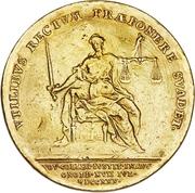 4 Ducat - Karl Wilhelm Friedrich Ansbach (Justice Board) – reverse
