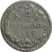 2 Pfennig - Karl Wilhelm Friedrich – reverse