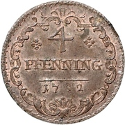 4 Pfennig - Karl Wilhelm Friedrich – reverse