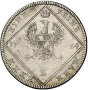 30 Kreuzer - Karl Wilhelm Friedrich – reverse
