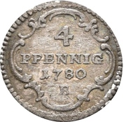 4 Pfennig - Christian Friedrich Karl Alexander – reverse