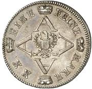 ½ Thaler - Christian Friedrich Karl Alexander (1/2 Konventionstaler) – reverse