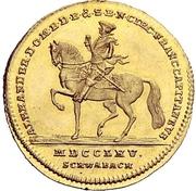 1 Ducat - Christian Friedrich Karl Alexander -  obverse