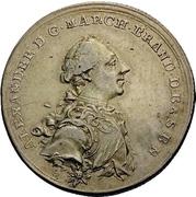 1/4 Thaler - Christian Friedrich Karl Alexander (Brandenburg-Ansbach; Bruckberger Porzellanfabrik) – obverse