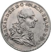 ½ Thaler - Christian Friedrich Karl Alexander (Brandenburg-Ansbach; Bruckberger Porzellanfabrik) – obverse