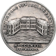½ Thaler - Christian Friedrich Karl Alexander (Brandenburg-Ansbach; Bruckberger Porzellanfabrik) – reverse