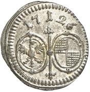 1 Pfennig - Christiane Charlotte -  reverse