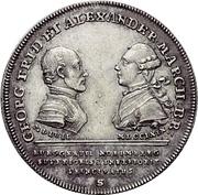 ¼ Thaler - Christian Friedrich Karl Alexander (Acquisition of Bayreuth; 1/4 Konventionstaler) -  obverse