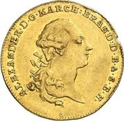1 Ducat - Christian Friedrich Karl Alexander (Acquisition of Bayreuth) -  obverse