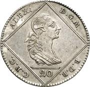 20 Kreuzer - Christian Friedrich Karl Alexander – obverse