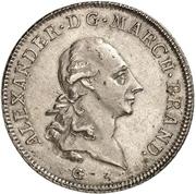 1 Thaler - Christian Friedrich Karl Alexander (Konventionstaler) -  obverse