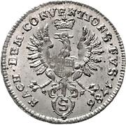 2½ Kreuzer - Christian Friedrich Karl Alexander – reverse