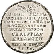 20 Kreuzer - Christian Friedrich Karl Alexander (Neustadt-Erlangen) – reverse