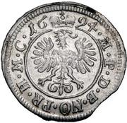 2 Kreuzer - Georg Friedrich II – reverse