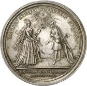 Medal - Christiane Charlotte (Brandenburg-Ansbach; passing of her regency) – reverse