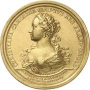 Medal - Christiane Charlotte (Brandenburg-Ansbach; passing of her regency) – obverse