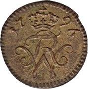 1 Pfennig - Friedrich Wilhelm II. – obverse