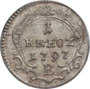 1 Kreuzer - Friedrich Wilhelm II – reverse