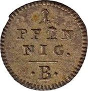 1 Pfennig - Friedrich Wilhelm II. – reverse