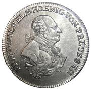 1 Gulden - Friedrich Wilhelm II – obverse