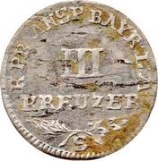 3 Kreuzer - Friedrich Wilhelm II – reverse