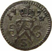 1 Pfennig - Friedrich Wilhelm II – reverse