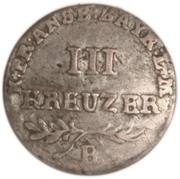 3 Kreuzer - Friedrich Wilhelm III – reverse