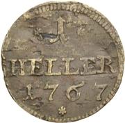 1 Heller - Friedrich Christian – reverse