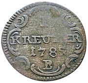 1 Kreuzer - Christian Friedrich Karl Alexander – reverse