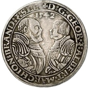½ Thaler - Georg the Pious and Albrecht the Young – obverse
