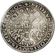 ½ Thaler - Georg the Pious and Albrecht the Young – reverse