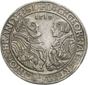 1 Thaler - Georg von Ansbach and Albrecht the Young – obverse