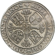 1 Thaler - Georg von Ansbach and Albrecht the Young – reverse