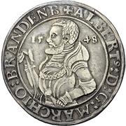 1 Thaler - Albrecht Alcibiades zu Bayreuth – obverse