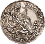 1 Thaler - Georg Friedrich I. (Death) – obverse