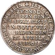 1 Thaler - Georg Friedrich I. (Death) – reverse