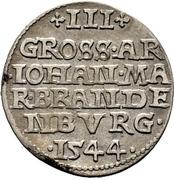 3 Groschen - Johann von Küstrin – reverse