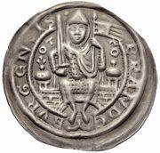 1 Brakteat - Otto I. – obverse