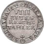 ⅛ Thaler - Friedrich Wilhelm – reverse