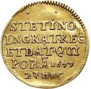 ½ Ducat - Friedrich Wilhelm (Stettin conquest) – reverse