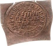 1/12 Thaler - Friedrich Wilhelm (Klippe; Copper pattern strike) – reverse