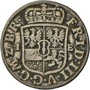 1/12 Thaler - Friedrich III. – obverse