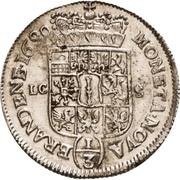 ⅓ Thaler - Friedrich III. – reverse