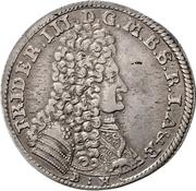 ⅓ Thaler - Friedrich III. – obverse