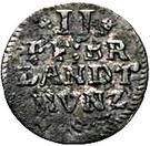 2 Pfennig - Friedrich III. – reverse
